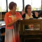 October Luncheon Sponsor Wells Fargo Home Mortgage with Kathie Cooksey and Alison Young.