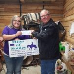 2017 GCBOR President Jon Fort presents Miles of Smiles with Garden City Board of REALTORS® 2017 Donation.