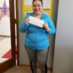 Winner of the Chamber Gift Certificate, Bernice