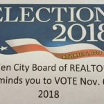 The Garden City Board of REALTORS® reminds you to VOTE November 6, 2018.