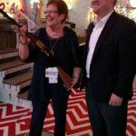 Maxine Atkinson winner of the Old Henry Golden Boy Rifle.  2017 Kansas RPAC Raffle