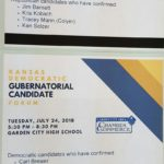 Kansas Gubernatorial Candidate Forums Sponsored by the Garden City Chamber of Commerce